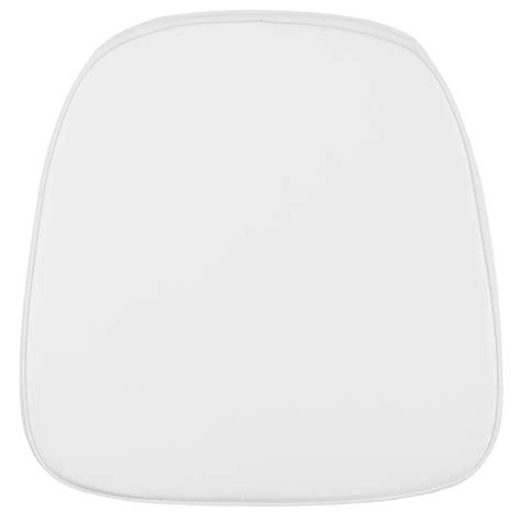 white chiavari cushion with velcro soft snow white fabric chiavari chair cushion