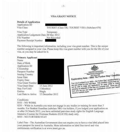 Visa Notification Letter Australia australian tourist visa application s adventure