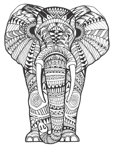 stress relief coloring pages elephant 168 best elephant coloring pages for adults images on