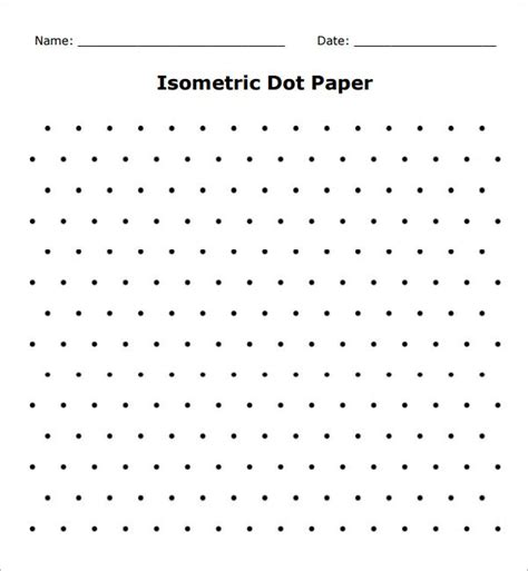 Isometric Dot Paper Printable