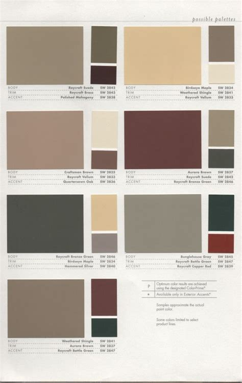 painting color schemes 39 best 1920s house colors images on pinterest color