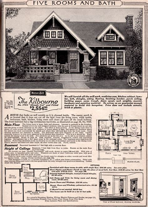 sears kit homes floor plans sears craftsman house plans 171 unique house plans