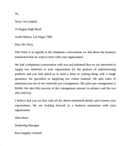Formal Letter Sle Simple Business Letter Template 11 Free Documents To