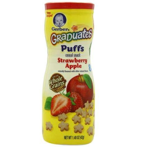 gerber graduates puff 42g gerber graduates puffs cereal snack strawberry apple 42g