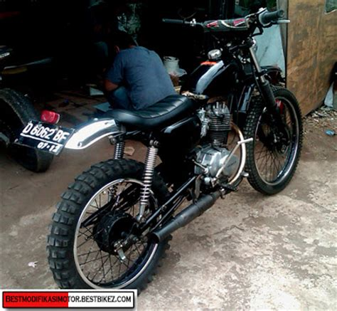 Tangki Model Honda Xl modifikasi honda cb 100 trail gambar modifikasi motor
