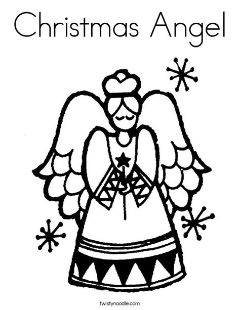 christmas angels coloring page coloring home
