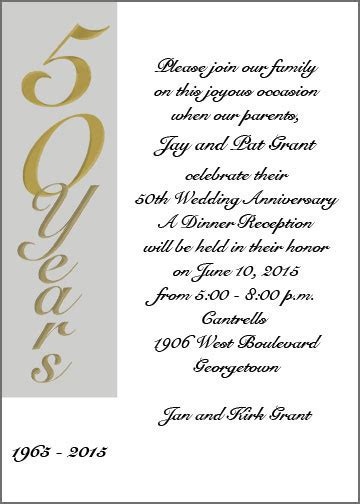 50th anniversary invitation wording 50th wedding anniversary invitation wording theruntime