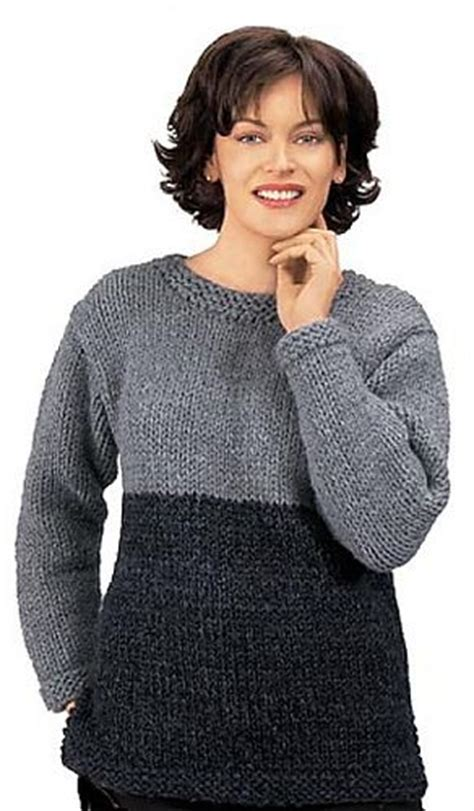 free knitting patterns for women lion brand yarn company rachael ravelry knitted two tone tunic free pattern by lion brand