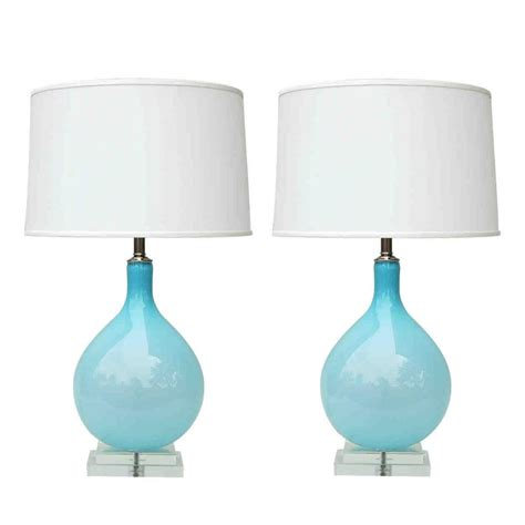 cheap to chic a good light blue glass lamp is actually