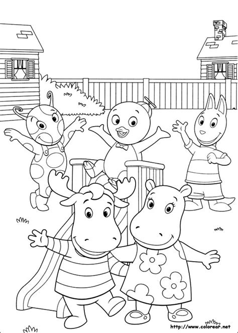 Backyard Page Dibujos Para Colorear De Backyardigans