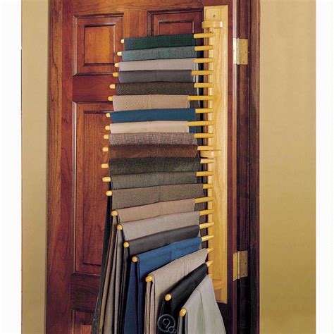 Closet Door Rack 20 Pair Hanging Rack Closet Organizer Oak Wood