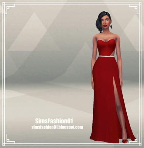 Longdress Cc dress with slit at sims fashion01 187 sims 4 updates