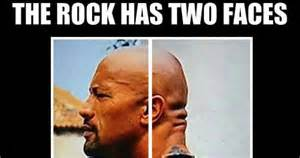 Rock Meme - the rock has two faces weknowmemes
