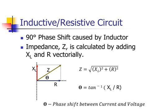 phase shift inductor circuit ppt inductive reactance powerpoint presentation id 6816964