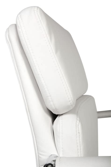Arm Covers For Leather Recliners by Teknik Office Retro Style Cantilever White Faux Leather