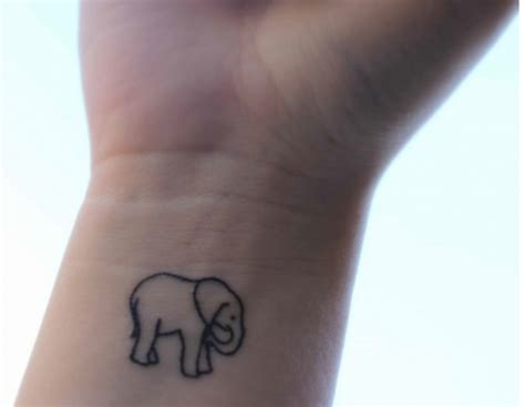 elephant tattoo wrist wrist tattoo image 611035 on