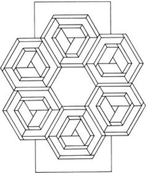 geometric tessellations coloring pages geometric tessellation with rhombus pattern coloring page