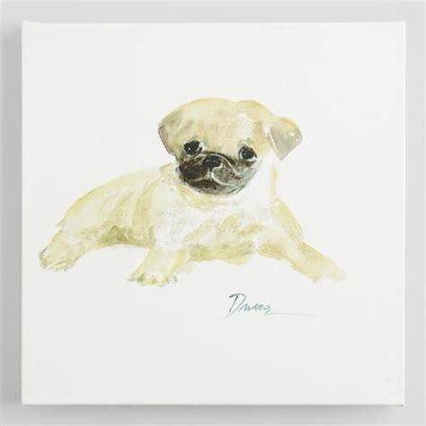 watercolor pug watercolor pug by dusza world market