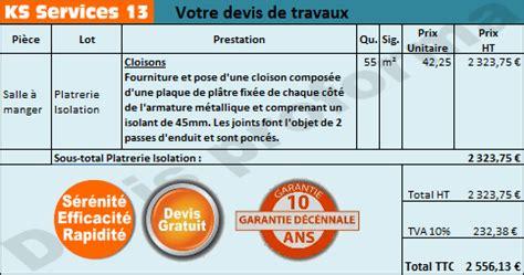 Prix Placo Au M2 4953 by Ks Services 13 Prix Au M2 Fourniture Et Pose Plaques De