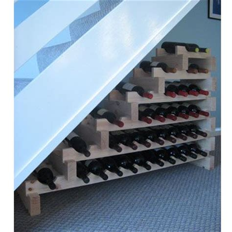 under stairs wine rack modularack wooden wine rack stairwell 37 bottle natural pine wine racks uk wine rack