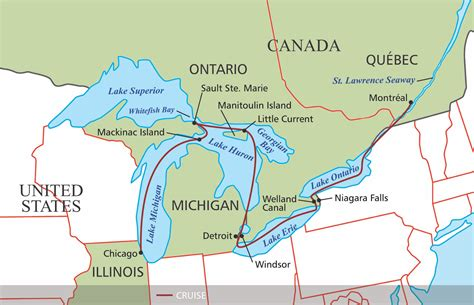 map of usa with great lakes st river map with states www pixshark