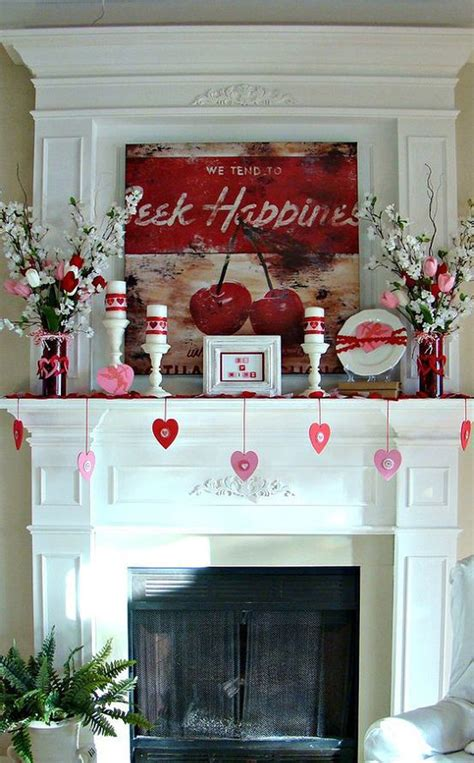 valentines mantel decor 20 gorgeous s day mantel decorations home