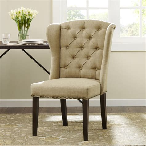wingback dining room chairs tufted wingback dining room chairs barclaydouglas