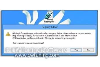 Disable Auto Tuning Windows 8 by Wintuning Security Gt Disable Executing Reg Files