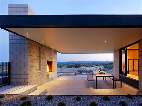 outside space passively cooled house with outdoor living spaces modern