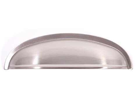 large cup drawer pulls manhattan cabinet bin pull brushed nickel large cup pull