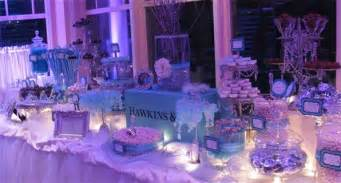 purple and blue buffet inspired with pink themed wedding