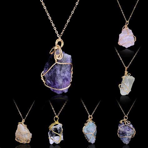 irregular shape amethyst pendants
