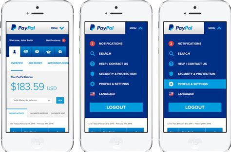paypal mobile application using paypal mobile services to send and receive money