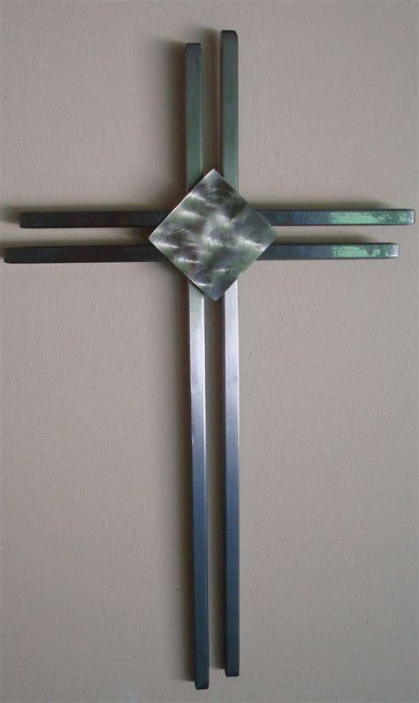modern wall cross crafted modern metal wall cross