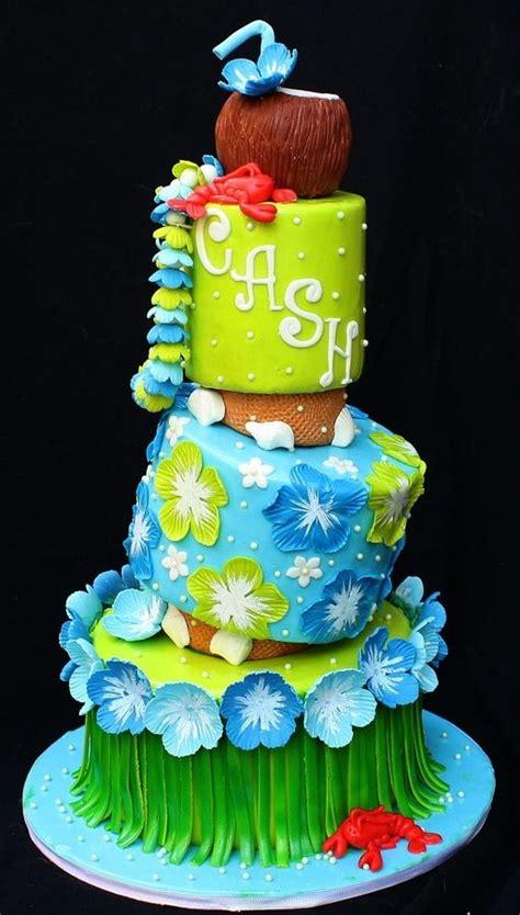 bizcocho decorado hawaiano baby shower hawaiano cumple hawaiano clara 12 bizcocho