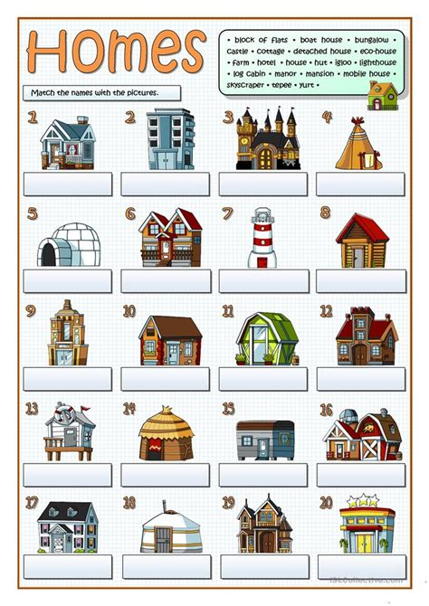 pin types of houses your class on