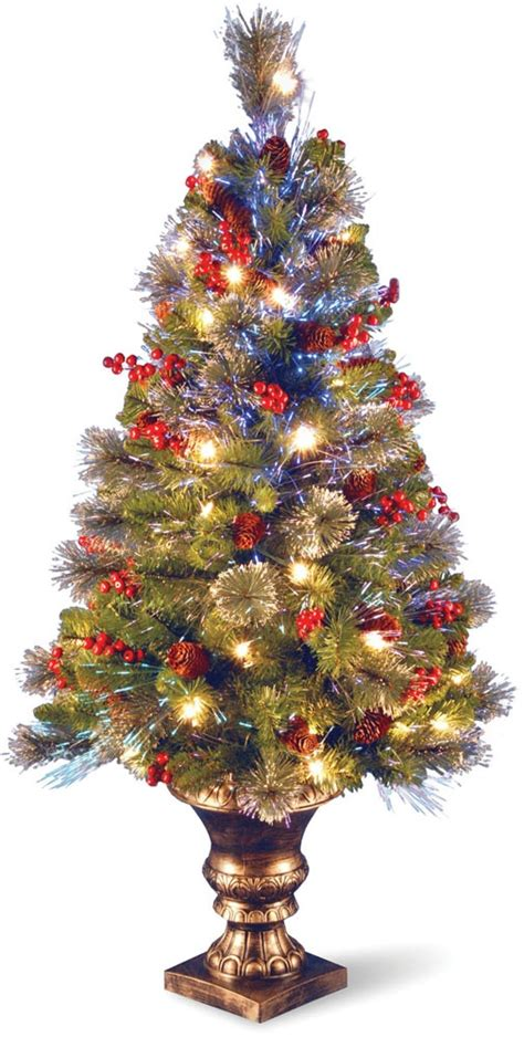 decorating christmas trees with berries 18 best images about fiber optic tree decorations on