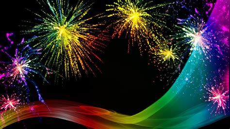 happy  year fireworks wallpaper