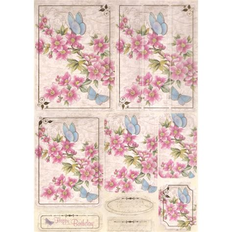 kanban paper craft toppers kanban pink blossom paper craft toppers