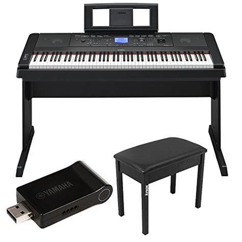 Adaptor Piano Yamaha yamaha dgx 660 88 key digital piano bundle with yamaha udwl01 wifi adapter and piano bench