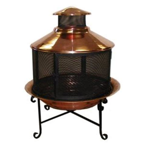 solid copper small new chiminea combo m91017 the home depot