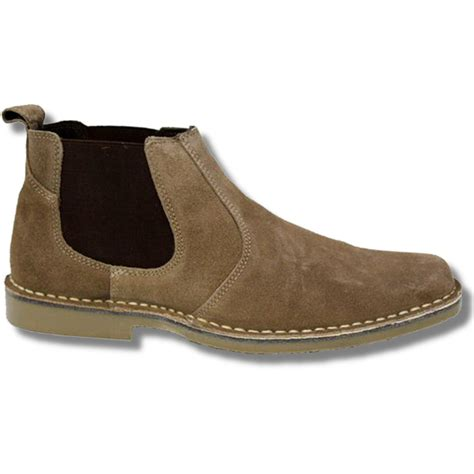 slip on boots new roamers mod suede rubber sole slip on desert boots