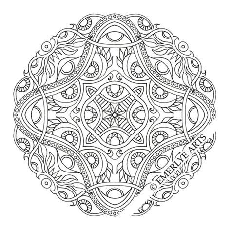 mandala coloring pages difficult emerlye arts coloring