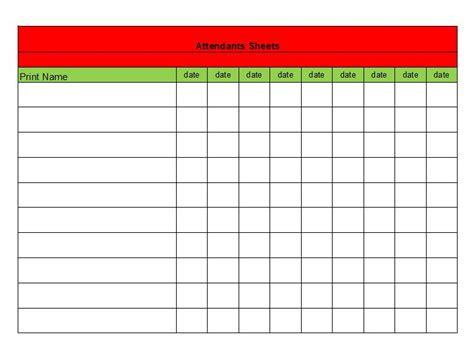38 free printable attendance sheet templates 38 free printable attendance sheet templates