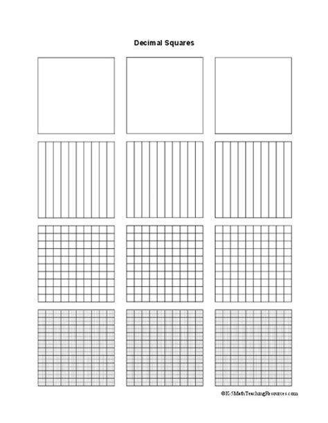 pattern decimal grid common worksheets 187 decimals squares preschool and