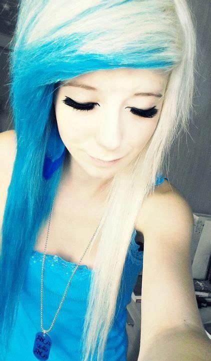 dyed emo hairstyles 20 best blue emo hair images on pinterest colourful hair