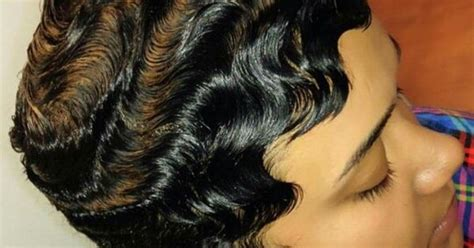 dry wave hairdo dry waves finger waves short hairstyles short