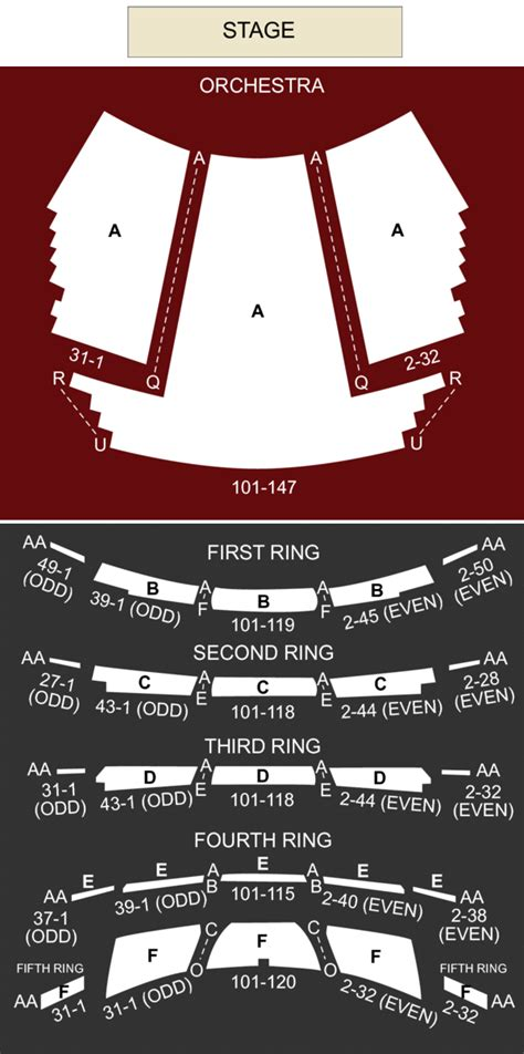 david  koch theater  york ny seating chart stage