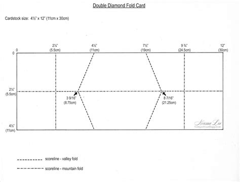 fold card template from my craft room fold card template