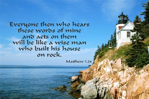 Build Your House On The Rock by United In The Word October 10 Bible Reading Matthew